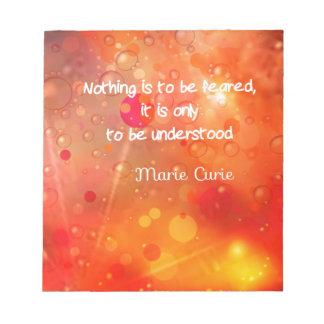 Verständnis ist besser als Furcht Notizblock