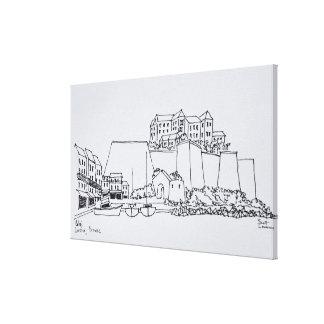 Verstärkte Stadt von Calvi | Korsika, Frankreich Leinwanddruck