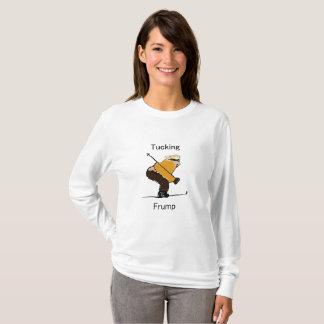 Verstauen langen T - Shirt die Hülse der
