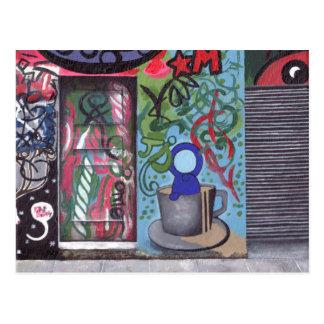 Versteckte Tür Postkarten