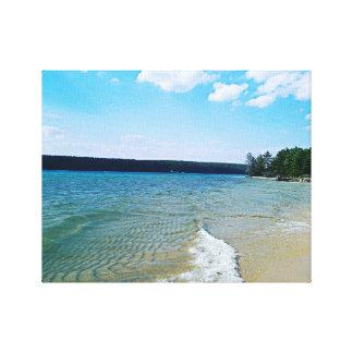 Versteckter Strand Leinwanddruck