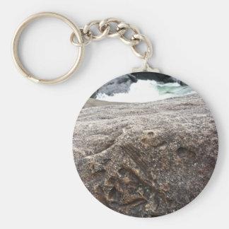 Versteinerter Felsen Schlüsselanhänger