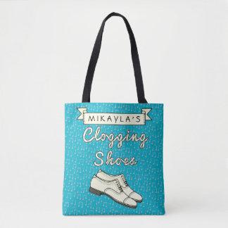 Verstopfenschuhe blauer Cloggers | Tasche