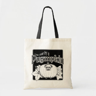 Versuchen Sie ein Pugmpkin! Taschen-Tasche Budget Stoffbeutel