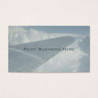 Versuchsflugzeug-Flugzeug-Flügel in den Wolken, Visitenkarte