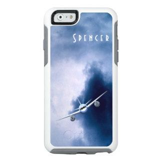 Versuchsluftfahrt-blauer Jet-Flugzeug in den OtterBox iPhone 6/6s Hülle