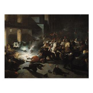 Versuchter Mord des Kaisers Napoleon Postkarte