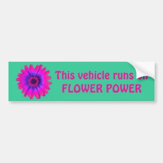 vert d'adhésif pour pare-chocs de flower power, ce autocollant de voiture
