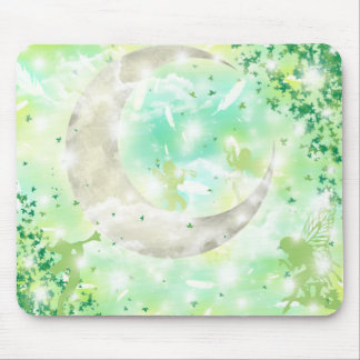 Vert de lune et de fées tapis de souris