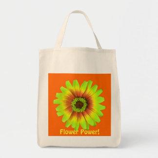 vert de marguerite de flower power avec l'arrière sacs
