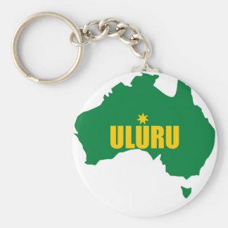 Vert d'Uluru et carte d'or Porte-clés