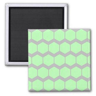 Vert en bon état et gris, rétro modèle géométrique magnet carré