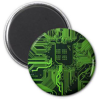 Vert frais d'ordinateur de bord de circuit magnet rond 8 cm