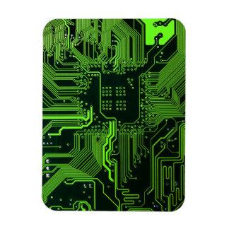 Vert frais d'ordinateur de bord de circuit magnets en vinyle