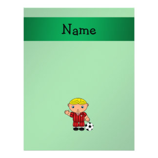 Vert nommé personnalisé de footballeur prospectus personnalisés