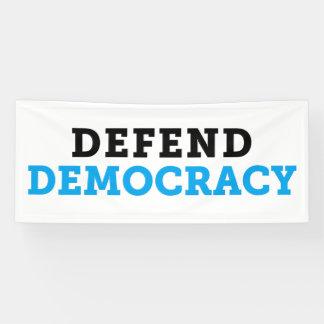 Verteidigen Sie Demokratie-Fahne Banner