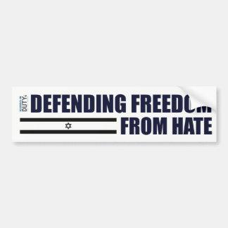 Verteidigenfreiheit vom Hass-Aufkleber Autoaufkleber