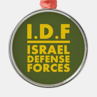 Verteidigung Forces2 - ENGLISCH IDFs Israel - VOLL Rundes Silberfarbenes Ornament