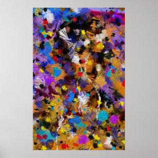 "Vertikal gefärbt ""Fantasia "" postieren Poster"