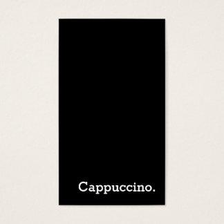 Vertikale dunkle Loyalitäts-Cappuccino-Lochkarte Visitenkarte