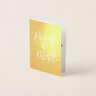 Vertikale frohe und Gold-Weihnachten Folienkarte