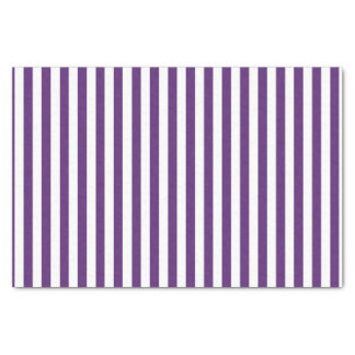 Vertikale lila und weiße Streifen Seidenpapier