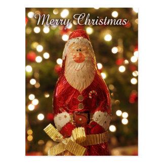 vertikale Postkarte Weihnachtsmann der frohen