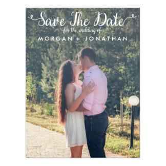 Vertikale-Save the Date Postkarten-Schablone Postkarte