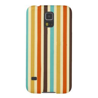 Vertikale Streifen-Retro Farbblaues gelbes Rot Samsung S5 Cover