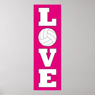 Vertikale Volleyball-Liebe-kundenspezifisches Poster