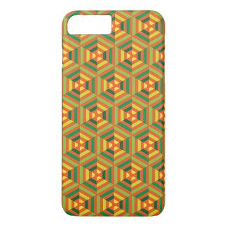 Vertikales nahtloses geometrisches Muster iPhone 8 Plus/7 Plus Hülle
