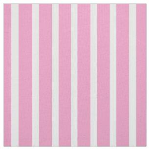 Vertikales rosa und weißes gestreiftes Gewebe Stoff