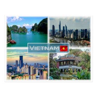 Vertikalnavigation Vietnam - Postkarte