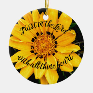 Vertrauen im Lord Bright Yellow Flower Keramik Ornament