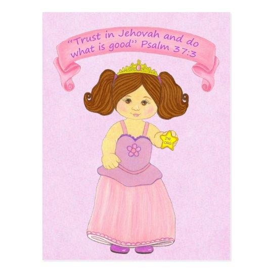 Vertrauen in Jehovah tun Good~Princess~Scripture Postkarte