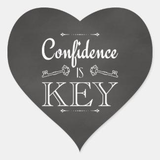 Vertrauen ist Schlüssel Herz-Aufkleber