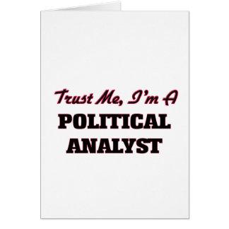 Vertrauen Sie, dass ich ich ein politischer Karten