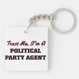 Vertrauen Sie, dass ich ich ein politischer Schlüsselanhängern