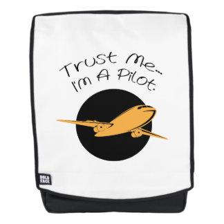Vertrauen Sie, dass ich ich ein Rucksack