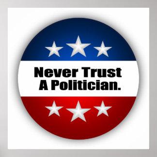 Vertrauen Sie nie einem Politiker Poster