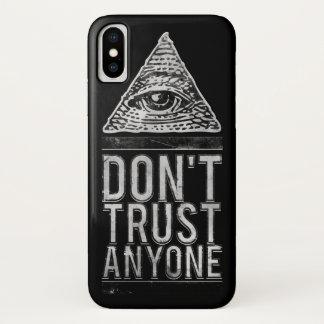 Vertrauen Sie niemandem iPhone X Hülle