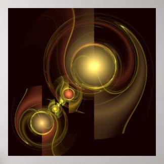 Vertraute Verbindungs-abstrakter Kunst-Druck Poster
