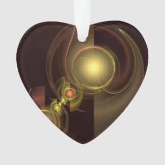 Vertraute Verbindungs-abstraktes Kunst-Acryl-Herz Ornament