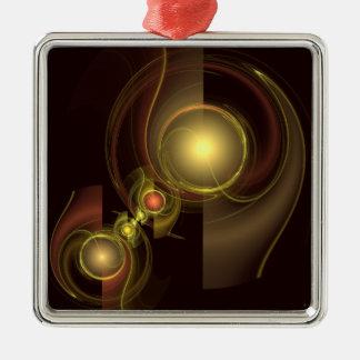 Vertraute Verbindungs-abstraktes Kunst-Quadrat Quadratisches Silberfarbenes Ornament