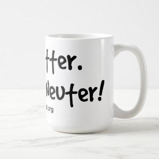 Verunreinigen Sie nicht spay und neutralisieren Kaffeetasse