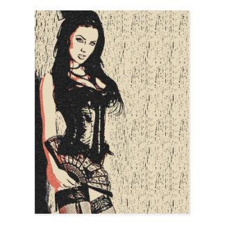 Vervollkommnen Sie brünette Diva in der Postkarte