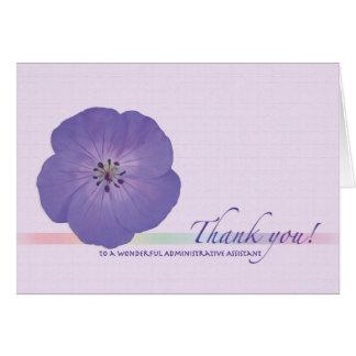 Verwaltungsmitarbeiteradmin-Protag danken Ihnen Karte