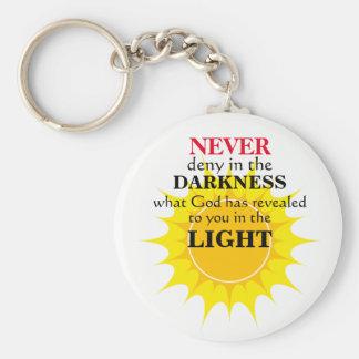 Verweigern Sie nie in der Dunkelheit Schlüsselanhänger