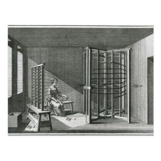 Verwerfende silk Faden, Illustration Encylopedia Postkarte