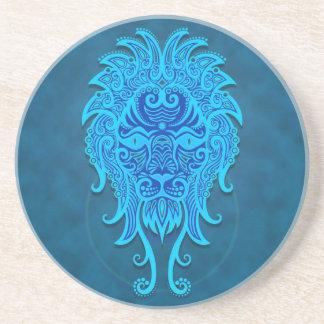 Verwickelter blauer Stammes- Löwe Getränkeuntersetzer